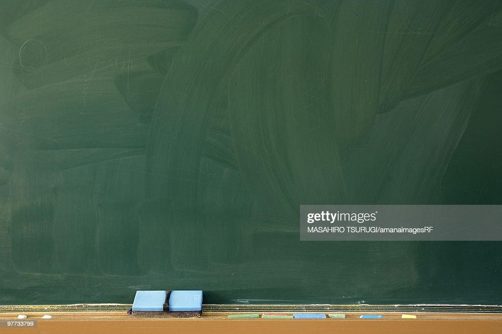 Blank blackboard : Stock Photo