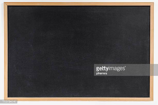 Blank blackboard with wooden frame background