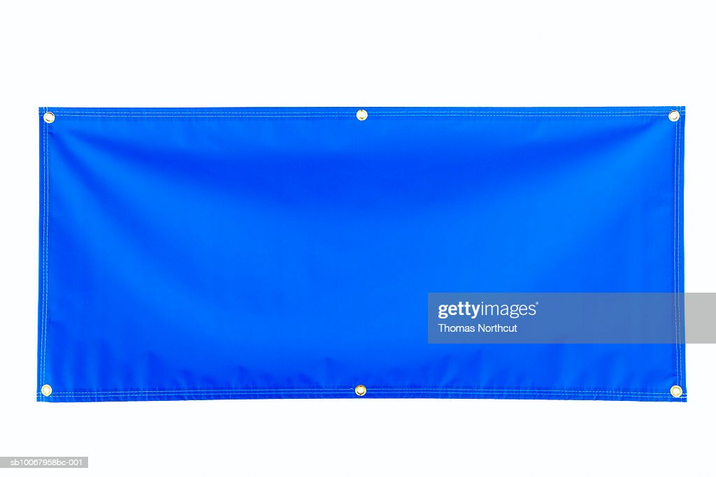Blank blue banner : Stock Photo