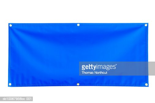 Blank blue banner : Bildbanksbilder