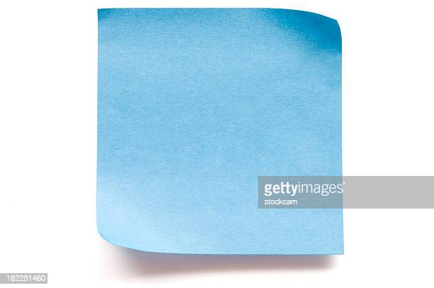 Blank blue postit note paper