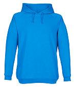 Blank blue sweatshirt mockup