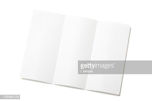 ブランクの小冊子