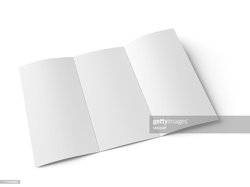 Blank booklet with scoring. Included clipping path