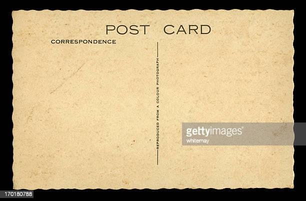 Blank British postcard on black