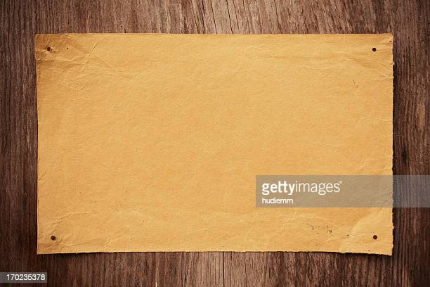 Blank Brown paper notice background textured