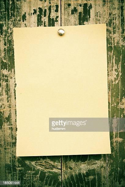 Blank Brown paper notice background textured