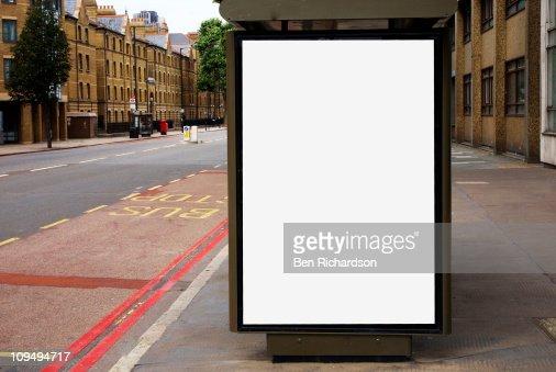 blank bus stop space : Stockfoto