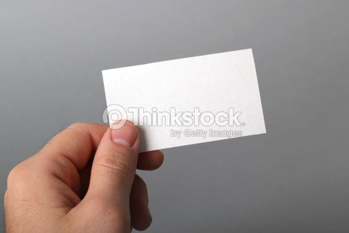 A blank business card being held out so one can see stock photo a blank business card being held out so one can see stock photo reheart Gallery
