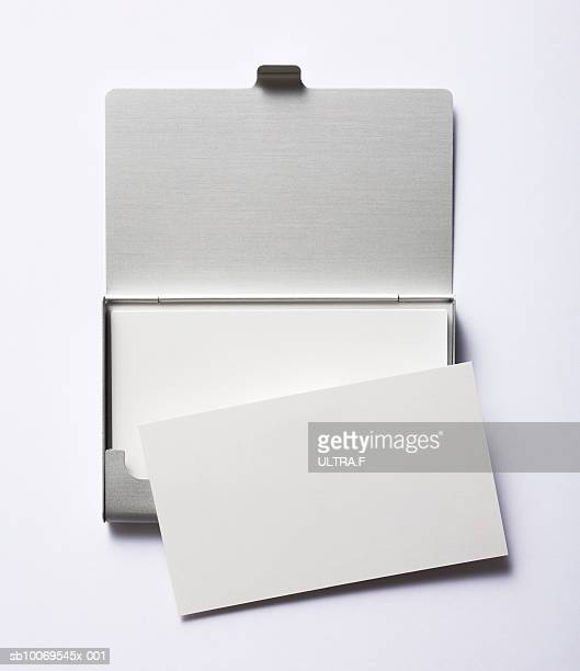 Blank business card in cardcase
