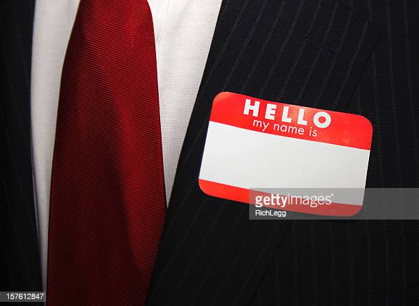 Blank Business Nametag