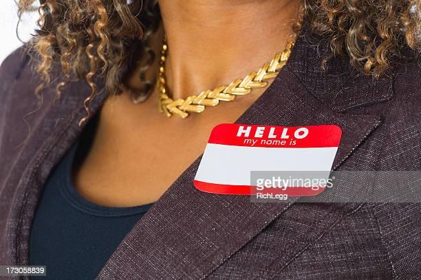 Leere Business-Namensschild