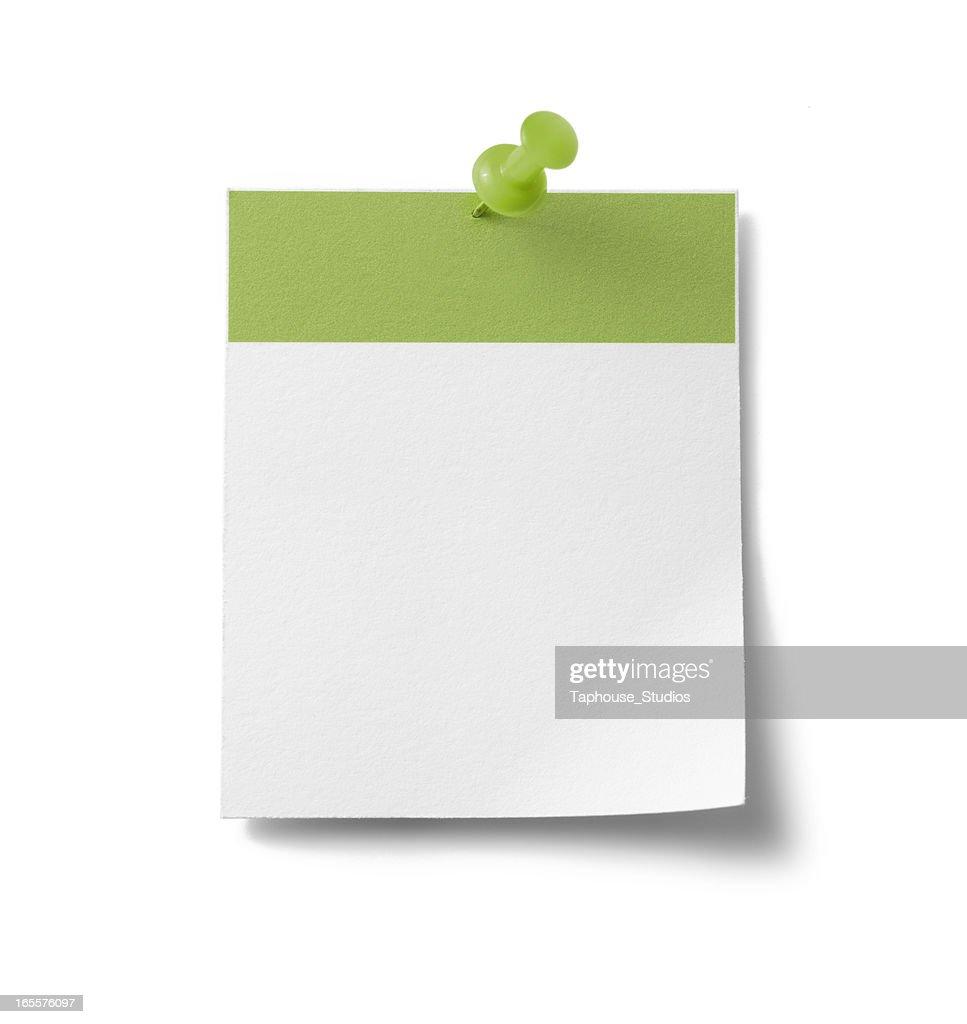 Blank calendar page - green