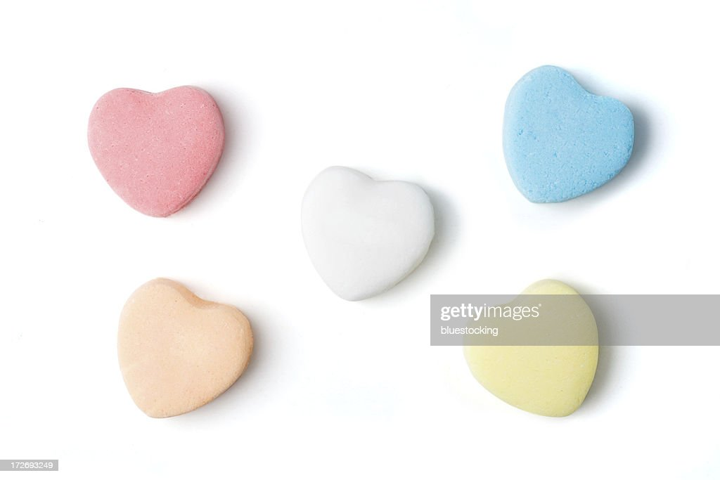 Blank Candy Hearts : Stock Photo