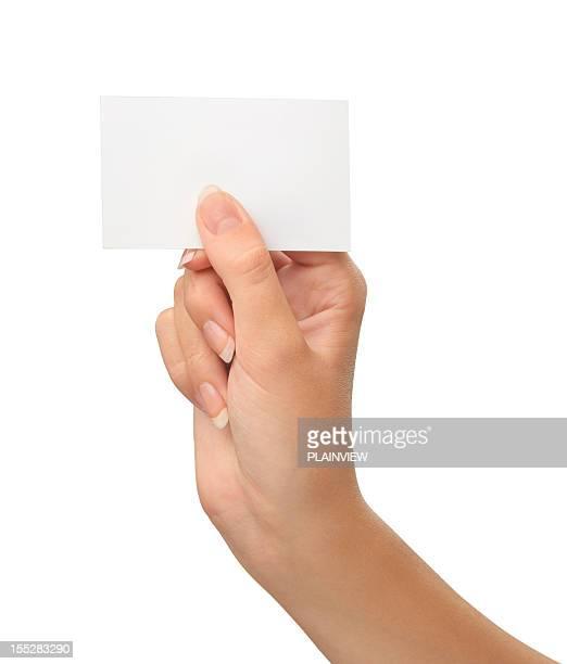 Leere Karte in eine hand