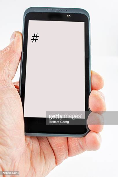 Blank cell with hashtag