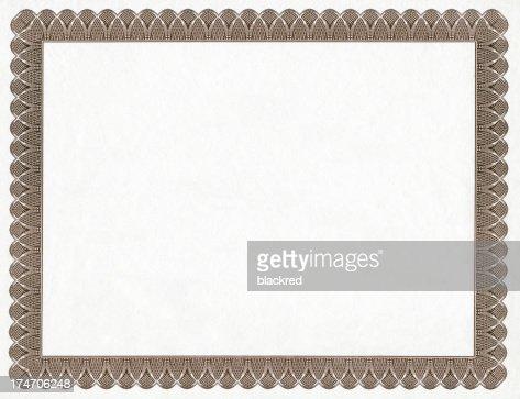 Blank Certificate Frame