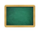 Blank Chalkboard isolated on white background. 3D render