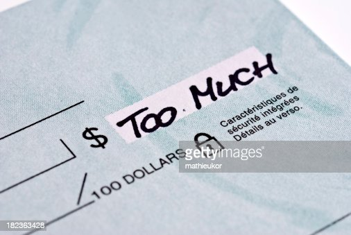 Blank check...too much