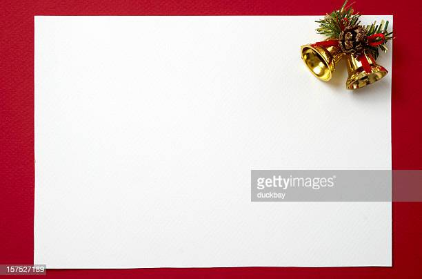 Blank Christmas card to decorate