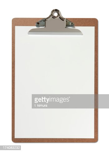 Blank Clipboard : Stock Photo