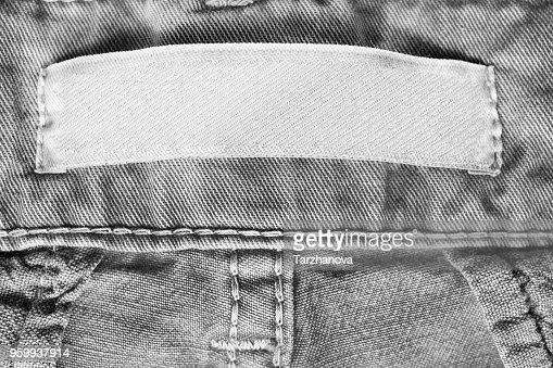 Blank clothes label : Stock Photo
