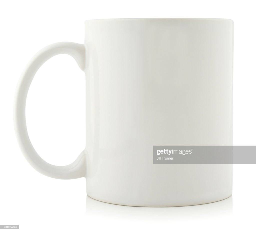 A blank coffee cup on a white background.