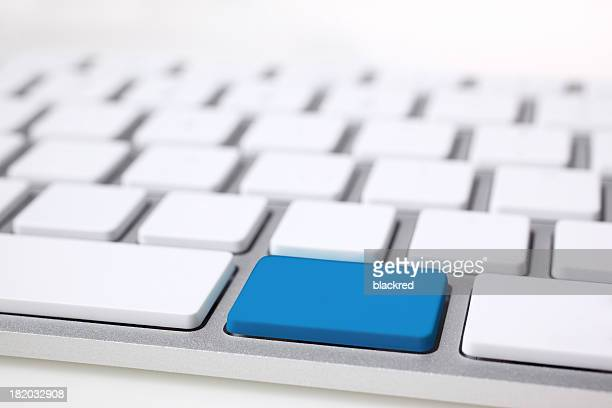 Blank Computer Keyboard Button