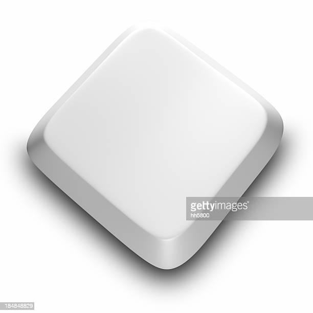 Botón de teclado de ordenador blanco
