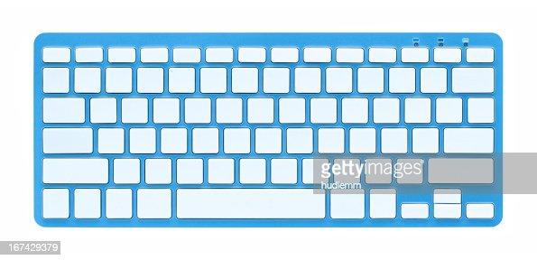 Branco teclado de computador (Traçado de Recorte!) : Foto de stock