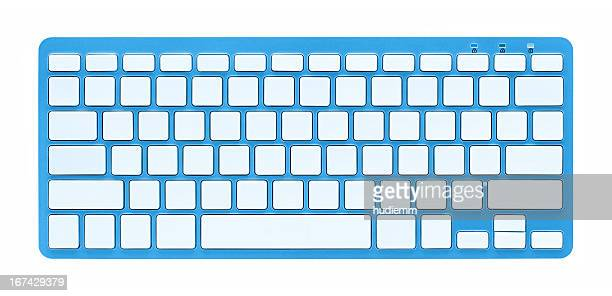 Blank computer Keyboard (Clipping path!) isolated on white background