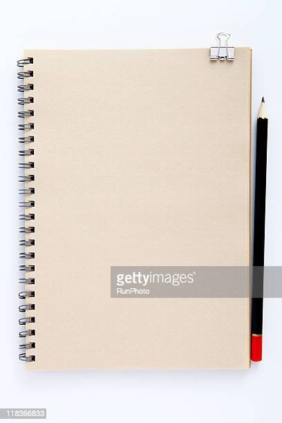 blank concept,notebook and pencil