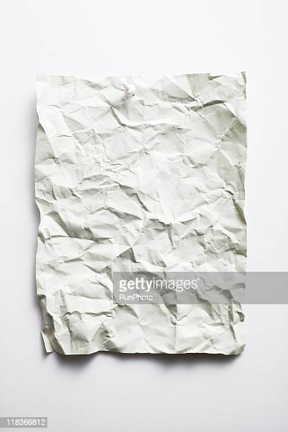 blank concept,wrinkled paper
