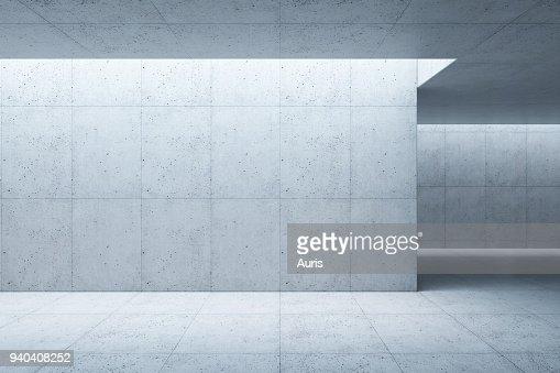 konkrete Leerzeichen Interieur, 3D-Rendering : Stock-Foto