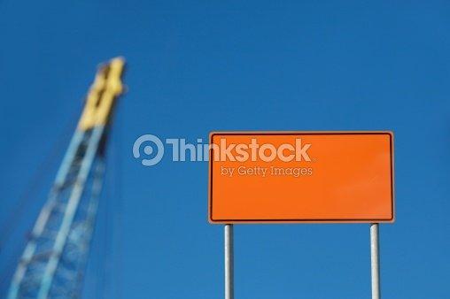 blank construction sign stock photo thinkstock