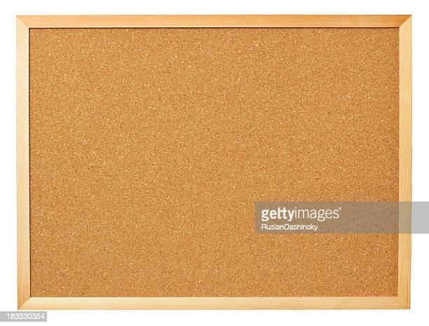 Leere cork board.