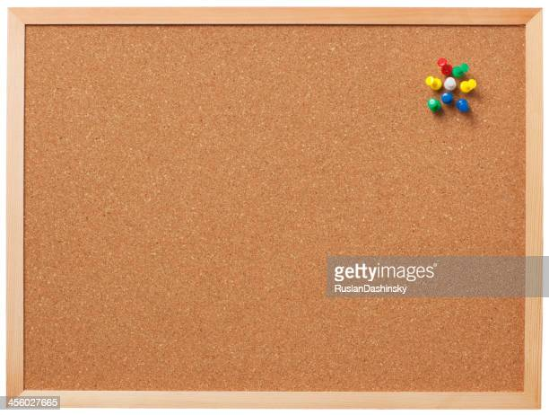 Blank cork board with pins.