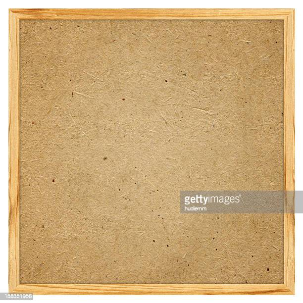 Blank Corkboard textured (Clipping path) isolated on white background