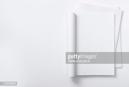 Blank curved magazine on a magazine stack