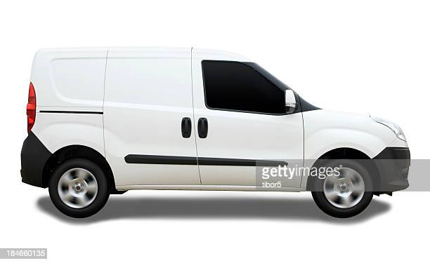 Blank Delivery Van with Clipping Path