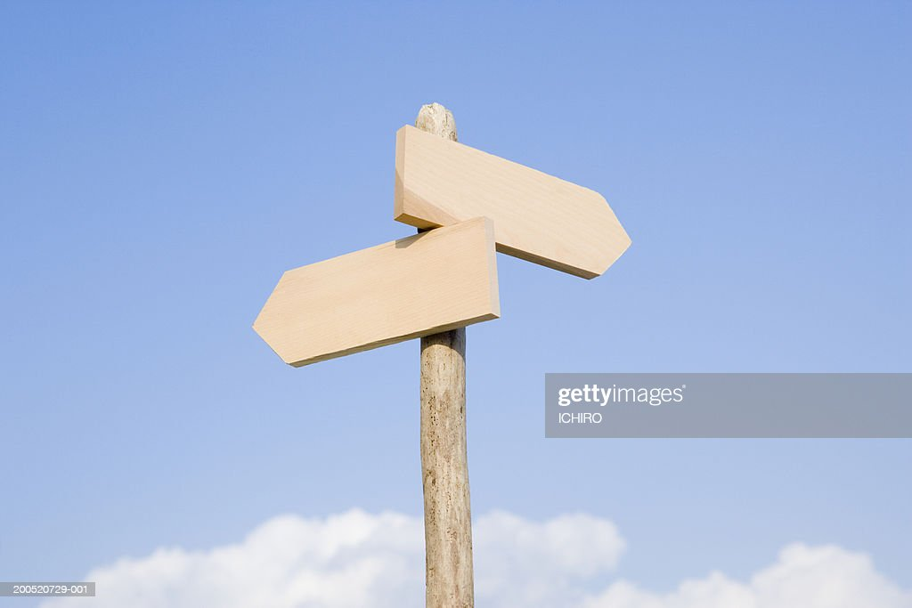 Blank directional signs : Stock Photo