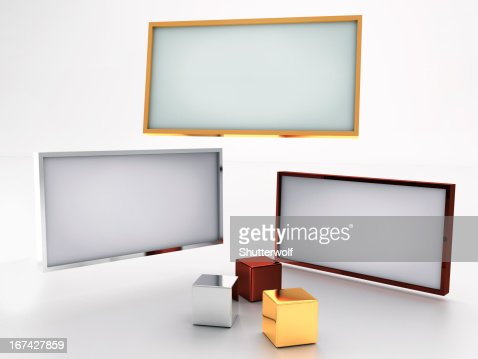 Blank displays : Stock Photo