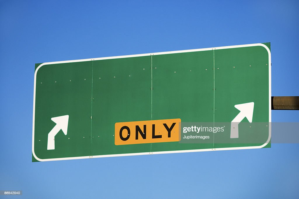 Blank exit only sign