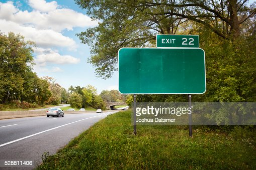 Blank exit sign : Stock Photo
