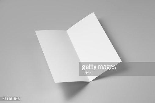 空白のマイレージプログラム、4 ページ、シングル折り返し