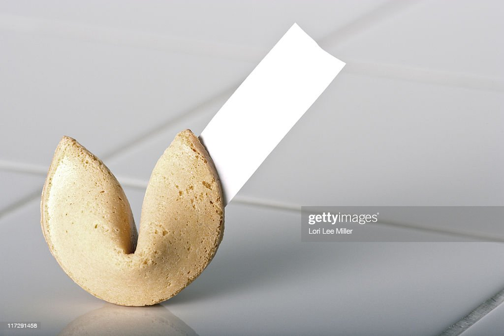 Blank Fortune Cookie : Stock Photo