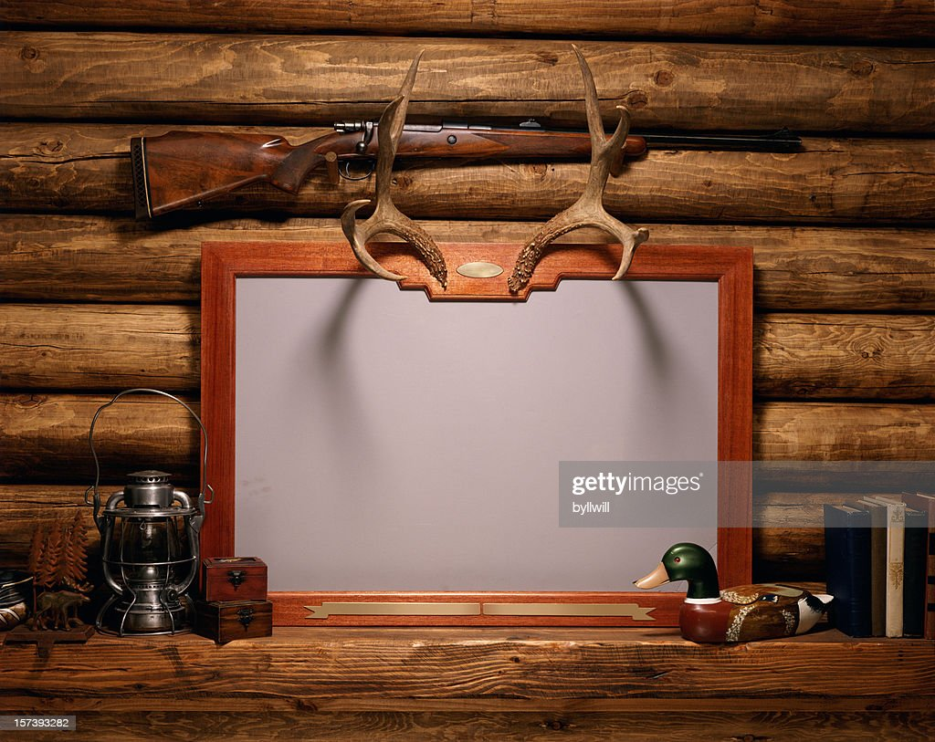 blank frame on fireplace mantle stock photo getty images