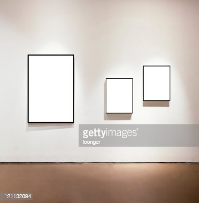 Blank frames on the wall at art gallery