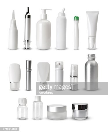 blank generic cosmetics containers