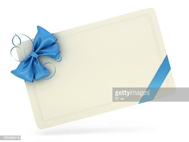 Branco cartão de oferta